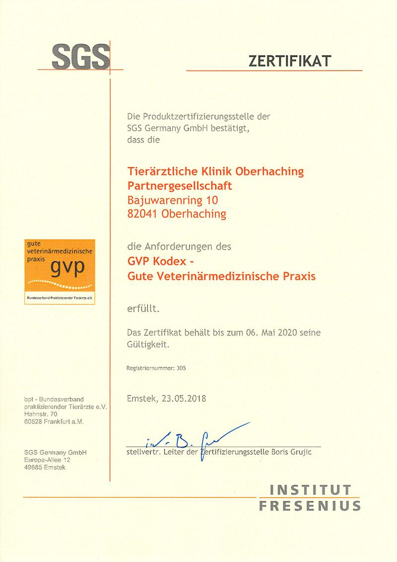GVP Zertifikat 2020